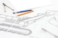 Abbildung und Bleistift Lizenzfreie Stockbilder