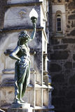 Abbildung und Fragment des Fassade Palastes Bussaco Stockbilder