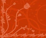 Abbildung - viktorianischer Blumenhintergrund Stockfotos