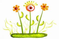 Abbildung vom Gemüse Stockbild