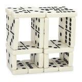 Abbildung von den Dominos auf weißem Hintergrund Lizenzfreies Stockbild