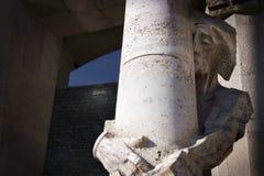 Abbildung von Jesus am Steinpfosten Lizenzfreie Stockbilder