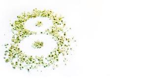 Abbildung 8 von kleinen weißen Blumen Lizenzfreie Stockbilder