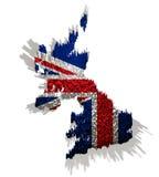 Abbildung von Vereinigtem Königreich mit Blöcken Stockfotografie