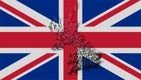 Abbildung von Vereinigtem Königreich mit Blöcken Lizenzfreie Stockfotos