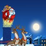 Abbildung von Weihnachtsmann Stockfoto