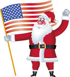 Abbildung von Weihnachtsmann in der verschiedenen Haltungsmarkierungsfahne Stockfotos