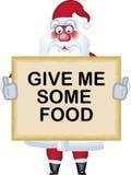 Abbildung von Weihnachtsmann in der verschiedenen Haltungsnahrung Lizenzfreie Stockfotos