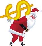 Abbildung von Weihnachtsmann im verschiedenen Haltungen dolla Lizenzfreie Stockbilder