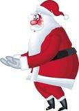 Abbildung von Weihnachtsmann im verschiedenen Haltungspunkt Stockfotografie