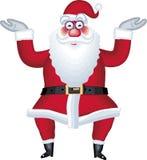 Abbildung von Weihnachtsmann im verschiedenen Haltungspunkt Stockbilder
