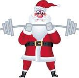 Abbildung von Weihnachtsmann im verschiedenen Haltungsstab Lizenzfreies Stockfoto