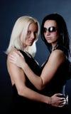 Abbildung von zwei reizvollen Mädchen Stockbild