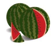 Abbildung von zwei Wassermelonen Lizenzfreie Stockfotos