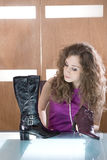 Abbildung withl Mädchen und Schuhe Stockbilder