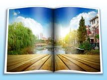 Abbildungalbum auf dem Park Stockbilder