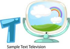 Abbildungalphabet-Zeichen Tfernsehen stock abbildung