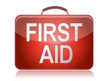 Abbildungauslegung der Erste-Hilfe-Ausrüstung Stockfoto