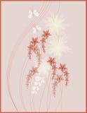 Abbildungauslegung mit Blumen Stockbilder