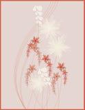 Abbildungauslegung mit Blumen Lizenzfreies Stockfoto