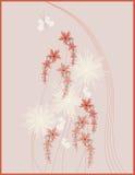 Abbildungauslegung mit Blumen Lizenzfreie Stockfotos