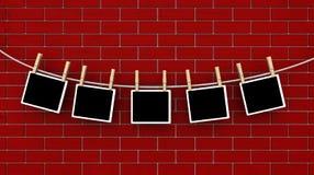 Abbildungen auf einer Zeile Stockbilder