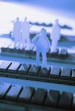 Abbildungen auf Speicherchips Lizenzfreies Stockfoto