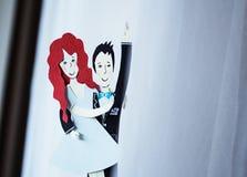 Abbildungen der Braut und des Bräutigams Stockfotografie