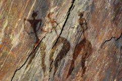Abbildungen der Frauen auf Felsen Lizenzfreies Stockfoto
