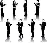 Abbildungen der Geschäftsleute und der Frauen Lizenzfreie Stockfotos