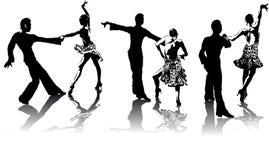 Abbildungen der lateinamerikanischen Tänzer Stockfotos