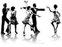 Abbildungen der lateinamerikanischen Tänzer Lizenzfreies Stockfoto