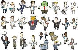 Abbildungen der männlichen Arbeitskräfte Stock Abbildung