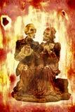 Abbildungen der Skelette Stockfoto