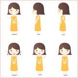 Abbildungen des kleinen Mädchens Stockfotos
