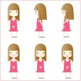 Abbildungen des kleinen Mädchens Stockbilder
