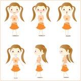 Abbildungen des kleinen Mädchens Stock Abbildung