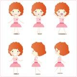 Abbildungen des kleinen Mädchens Lizenzfreie Stockbilder