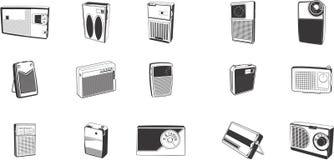 Abbildungen des Retro- Funks Stockbild