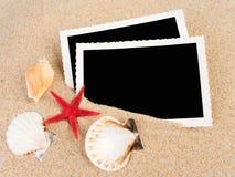 Abbildungen in einem Strandkonzept Stockfoto