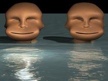 Abbildungen im Wasser Stockbild