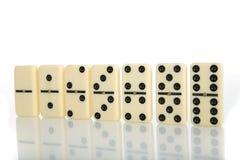 Abbildungen vom gelben Domino Stockbilder