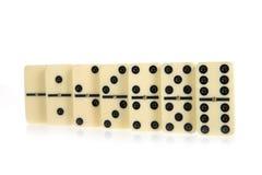 Abbildungen vom gelben Domino Lizenzfreies Stockbild