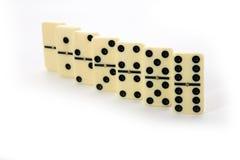 Abbildungen vom gelben Domino Stockfoto