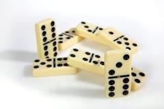 Abbildungen vom gelben Domino Lizenzfreie Stockbilder