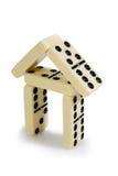 Abbildungen vom gelben Domino Stockbild