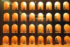 Abbildungen von Buddha (Kupfer) Stockfotos