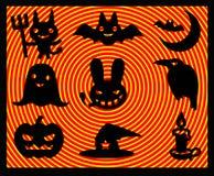 Abbildungen von helloween Ikonen Lizenzfreie Stockfotografie