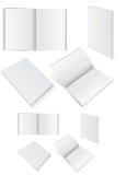Abbildungset Bücher mit Papiereinbandem. Stockfoto