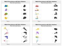 Abbini lo strato dell'ombra 4 dell'oggetto - foglio di lavoro per istruzione royalty illustrazione gratis